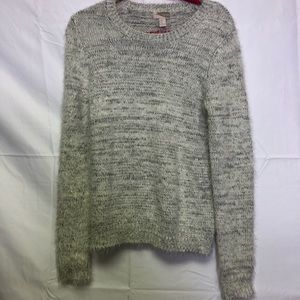 Forever 22 contemporary grey fuzzy sweater